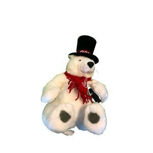 "Vintage Coca Cola Stuffed Plush Bear y2k 13"" 2000"